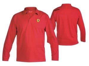 Polo FER ML scudetto long rojo