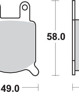 Pastillas de freno sbs para moto 560HF