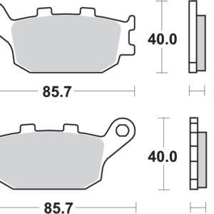 Pastillas de freno sbs 657hf