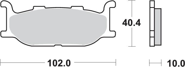 pastillas de freno sbs para moto 663HS