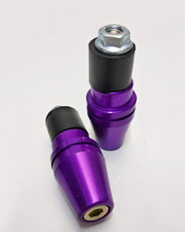 contrapeso manillar conico violeta