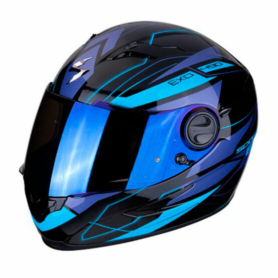 casco scorpion nova blau